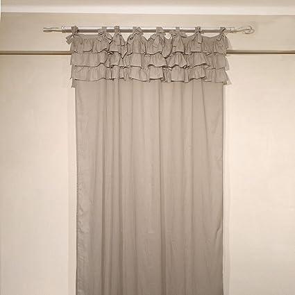 Tenda con balze Shabby Chic Etoile Collection 130 x 290 cm Colore ...