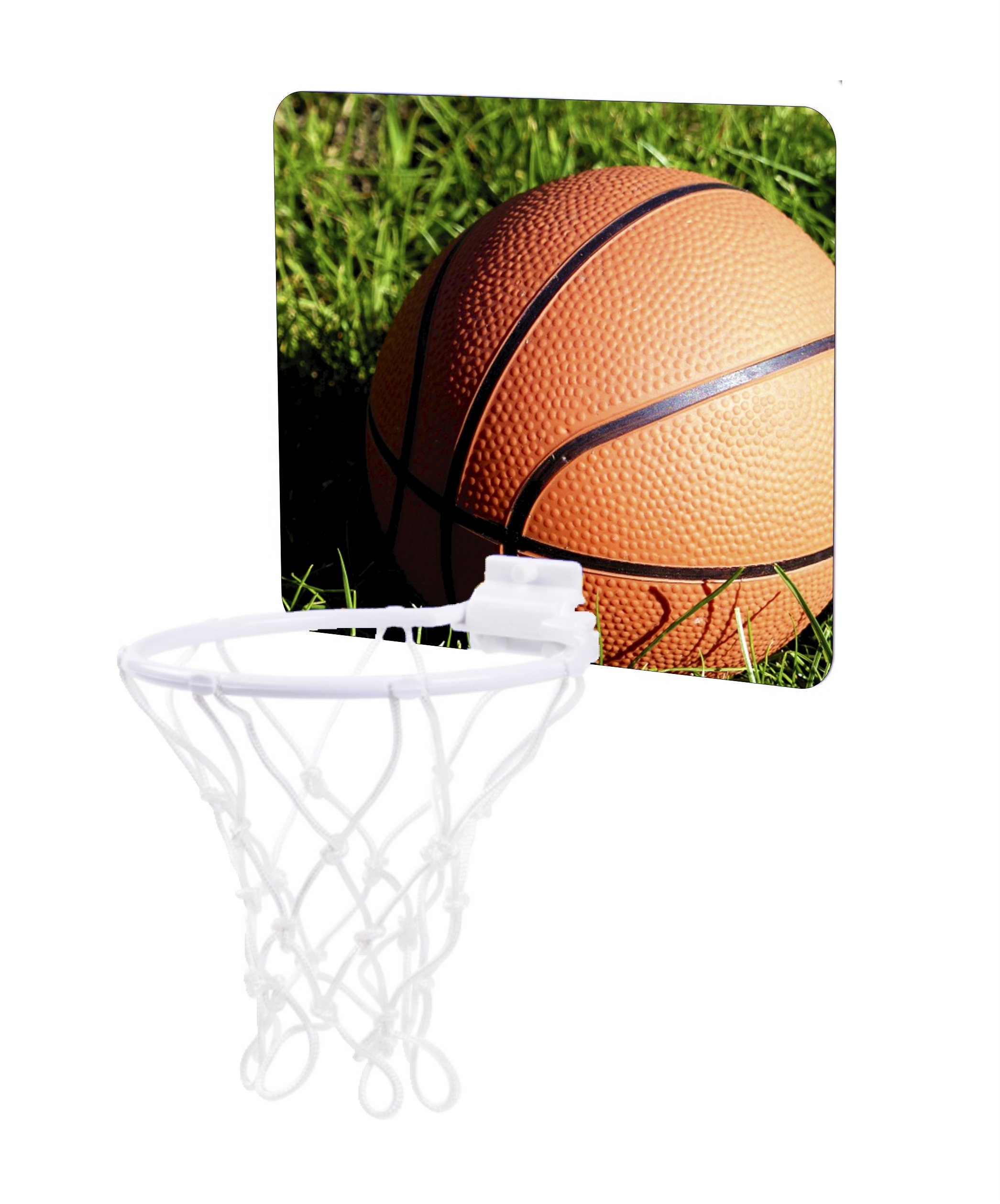 Jacks Outlet Basketball in the Grass - Childrens 7.5'' x 9'' Mini Basketball Backboard - Goal with 6'' Hoop by Jacks Outlet (Image #1)