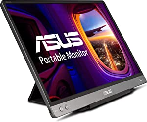 "ASUS ZenScreen MB14AC 14"" Portable USB Type-C Monitor, 1080P Full HD, IPS, Eye Care, Anti-Glare Surface, External Screen for Laptop, Hybrid Signal Solution"