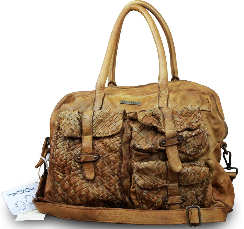 Women Vintage Backpack Cowhide Geniune Leather Embossed Bag Messenger Portfolio