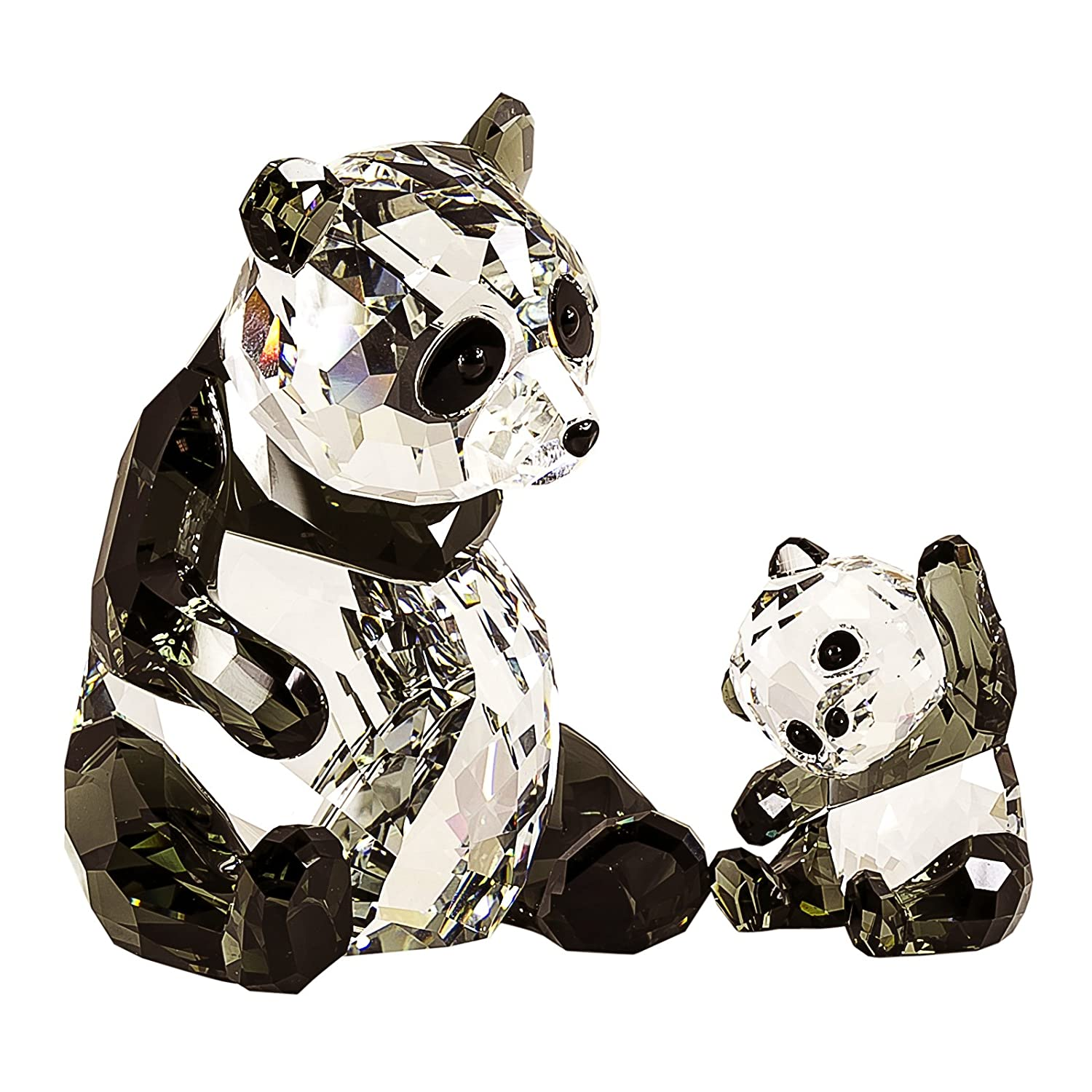 Swarovski Panda Mother with Baby Figurine