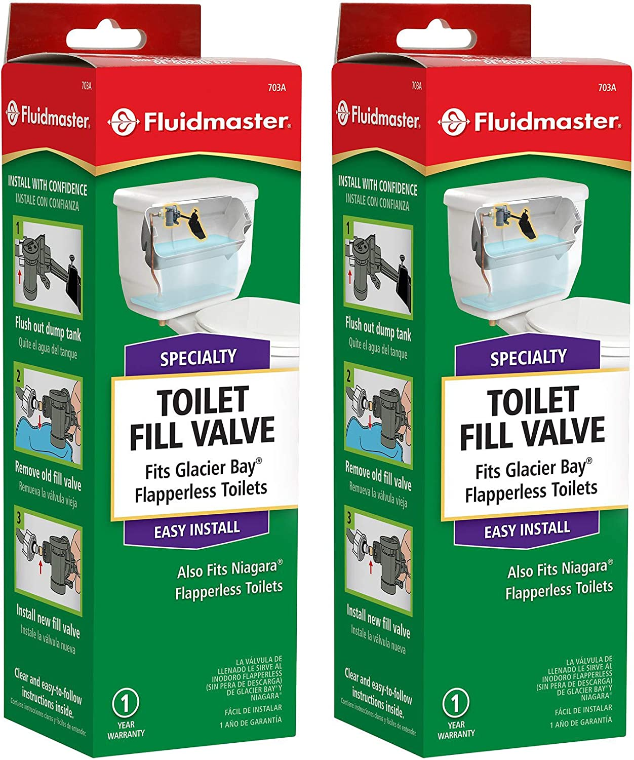 Toilet Fill Valve For Glacier Bay And Niagara Conservation Flapperless Toilets