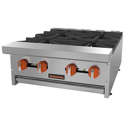 Amazon.com: Grupo MVP srhp-4 – 24 4 quemadores gas Hot Plate ...