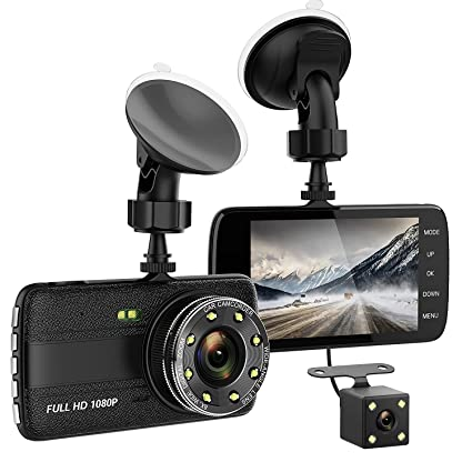 TenTenCo Dash Camera for Cars with Full HD 1080P, 170 Wide