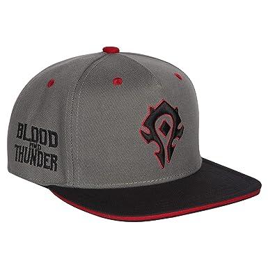 Amazon.com  JINX World of Warcraft Horde Blood and Thunder Snapback ... 12bf1703423