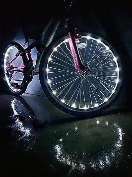 VΛ Luces de Rueda para Bicicleta, Seguridad y Refrigeración, 2 Unidades