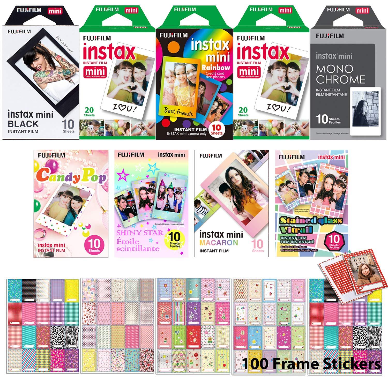 FujiFilm Instax Mini 9 Instant Film Holiday Special Bundle - 110 Prints by Fujifilm