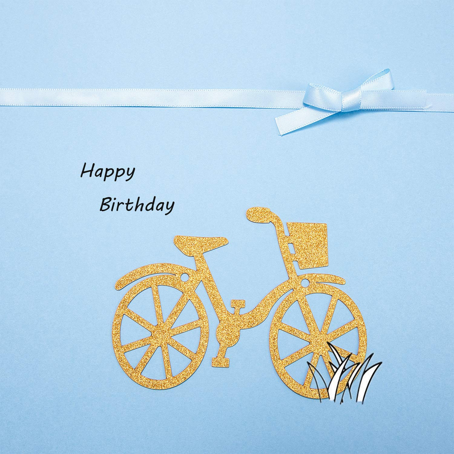 2 Pieces Bicycle Party Banner Bike Banner Sports Theme Bicycle Garland for Birthday Baby Shower Party Decoration