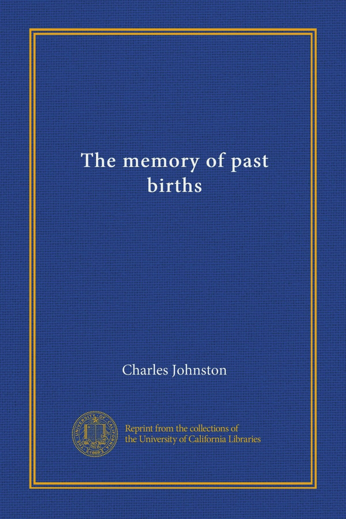 The memory of past births PDF