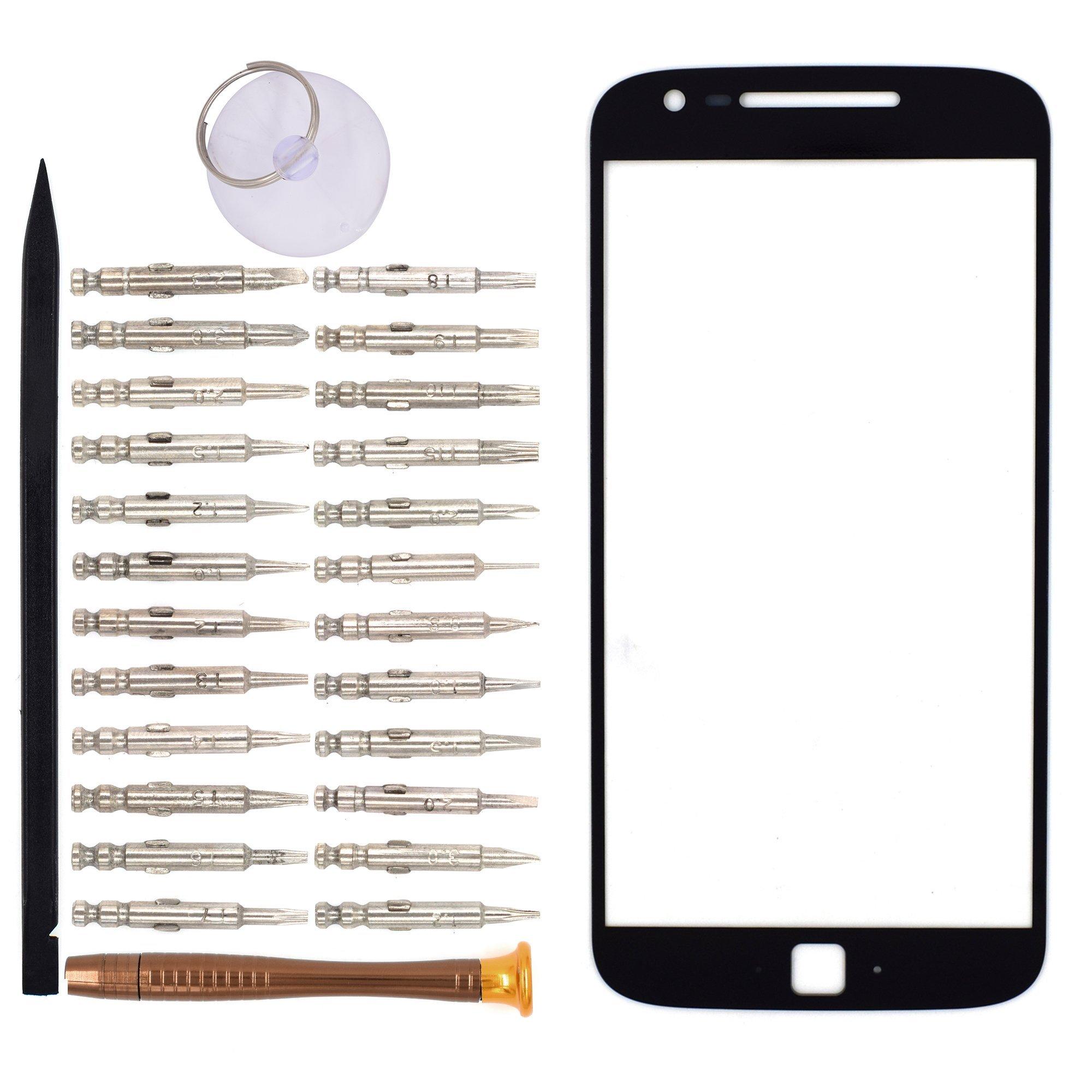 Vidrio Frente para Motorola Moto G4 Plus negro [GOODYITOU]