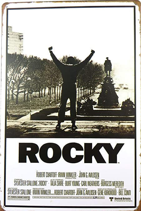 Amazon.com: WholesaleSarong Rocky - Movie Score Arms Up tin ...