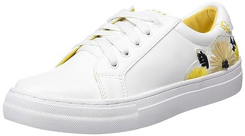 Sixty seven Pompei, Zapatillas de Deporte para Mujer, Blanco (Actled Blanco F/Neoprene Yellow), 39 EU: Amazon.es: Zapatos y complementos