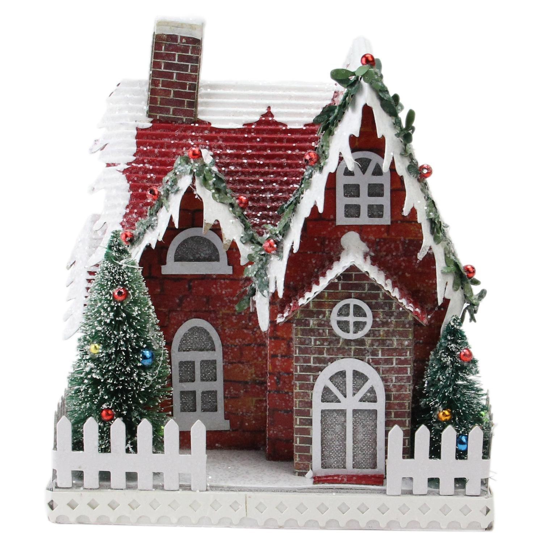 7.5'' Holiday Moments LED Lit Holiday House Christmas Decoration –Warm White Lights