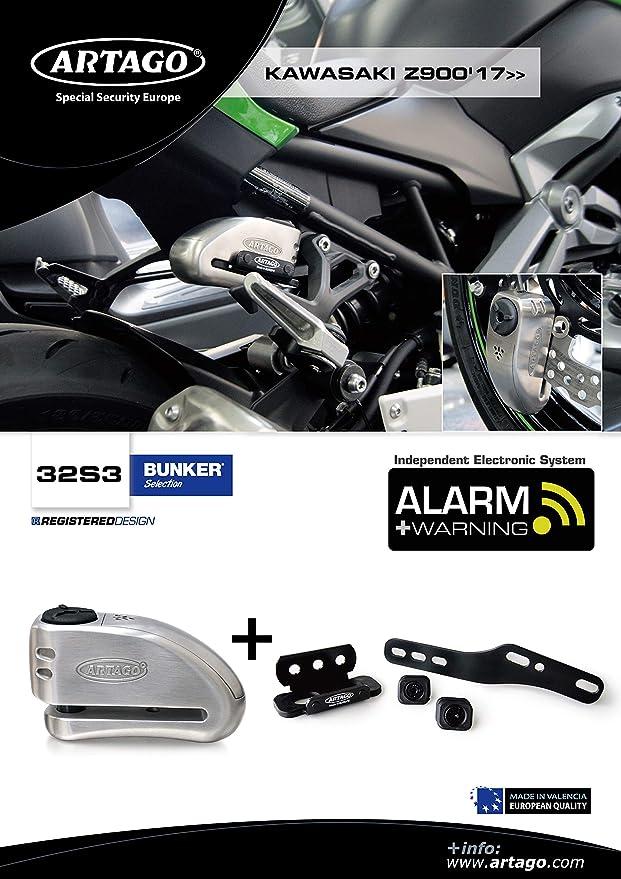 Artago 32S3 Antirrobo Disco Alarma 120Db Alta Gama Y Soporte ...