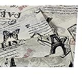 Souarts Textile Tissu Coton Lin pr Diy Patchwork Couture Motif Papillon Anglais 150x100cm