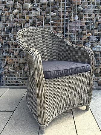 4 X Polyrattan Sessel Panama Terassenmobel Geflecht Gartenmobel