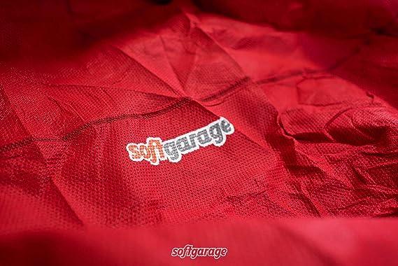 Softgarage 3 Lagig Rot Indoor Atmungsaktiv Wasserabweisend Car Cover Vollgarage Ganzgarage Autoplane Autoabdeckung 103020 0708396 Auto