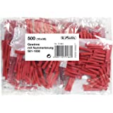 Herlitz 791863 Gewinnlose 501-1000 10x50 Stück rot, nummeriert