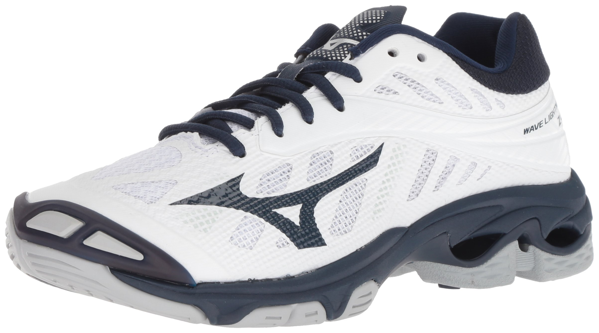 Mizuno Wave Lightning Z4 Volleyball Shoes, White/Navy Women's 6 B US
