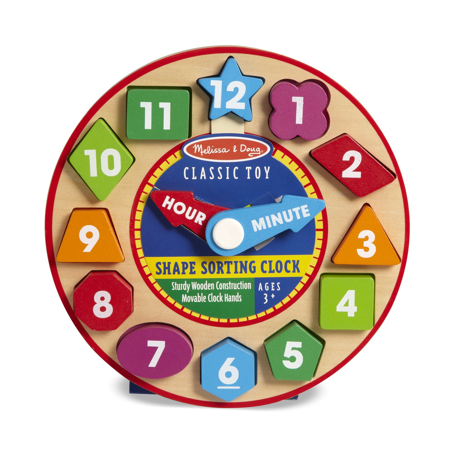 Amazon Melissa & Doug Shape Sorting Clock Wooden