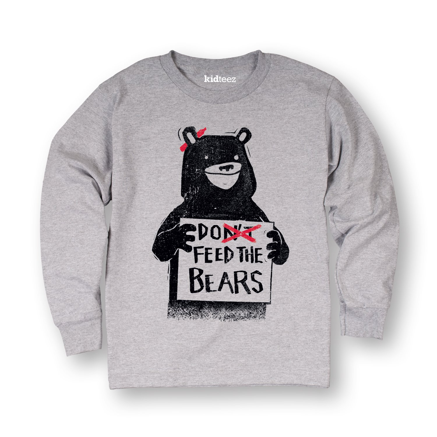 Air Waves Dont Feed The Bears-Toddler Long Sleeve TEE