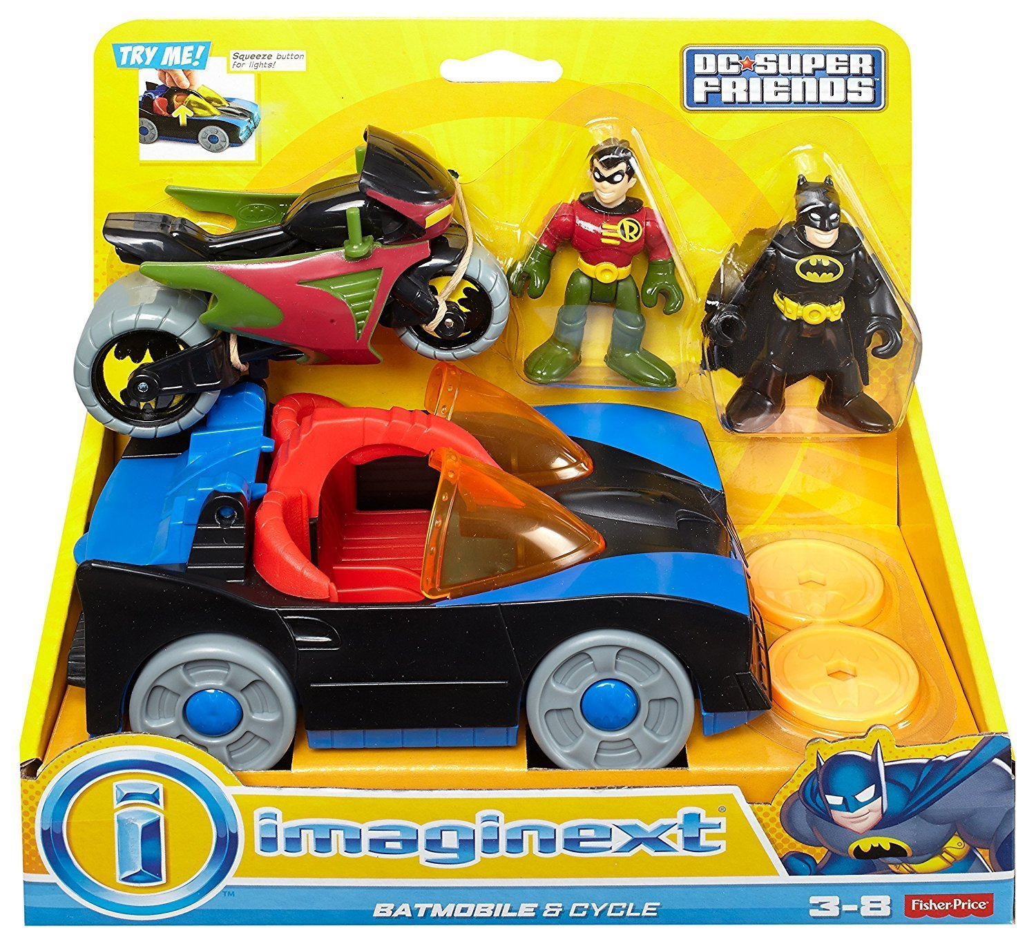 Fisher-Price Imaginext DC Super Friends Batmobile & Cycle by Fisher-Price