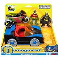 Fisher-Price DC Super Friends Imaginext Batmobile and Cycle