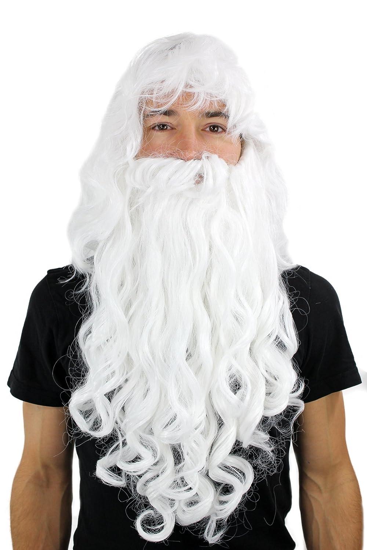 Wig me up, PW0187-P60(A250), Peluca con barba estilo Papá Noel ...