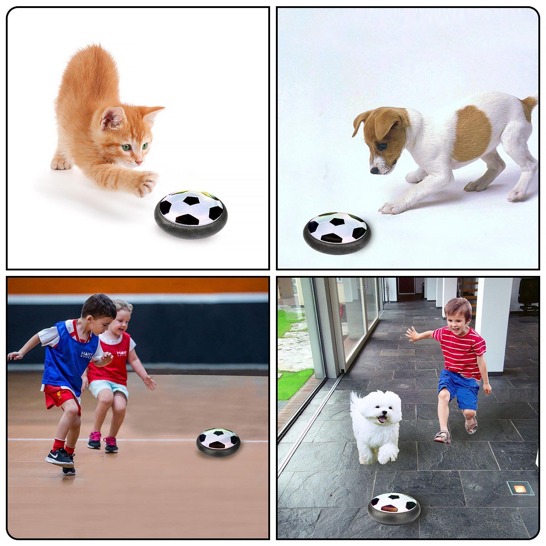 Juguetes Aire F/útbol con LED Luces Regalo para Ni/ños y Mascotas Juguete Bal/ón de F/útbol LENBEST Air Hover Ball Soccer Bonus Mini Destornillador y Silbato