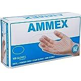 AMMEX - VPF62100-BX - Medical Vinyl Gloves - Disposable, Powder Free, Exam, 4 mil, Small, Clear (Box  of 100)
