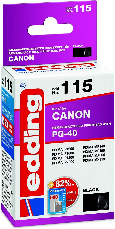 Edding 18 115 Druckerpatrone Edd 115 Ersetzt Canon Pg 40 Einzelpatrone Schwarz Bürobedarf Schreibwaren