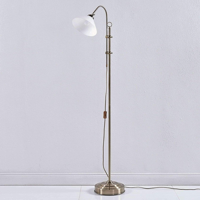 Lampenwelt Stehlampe Otis Retro Vintage Antik In Weiss Aus