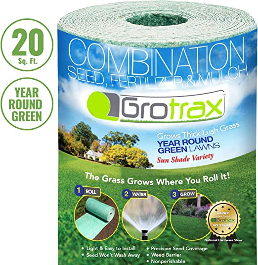 Amazon Com Grotrax Biodegradable Grass Seed Mat Year Round