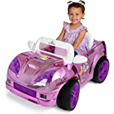 Disney Princess Convertible Car 6 Volt Battery Operated Electric Powered Wheels Ride on Toys for Girls, Pink/Purple - Includes Charger