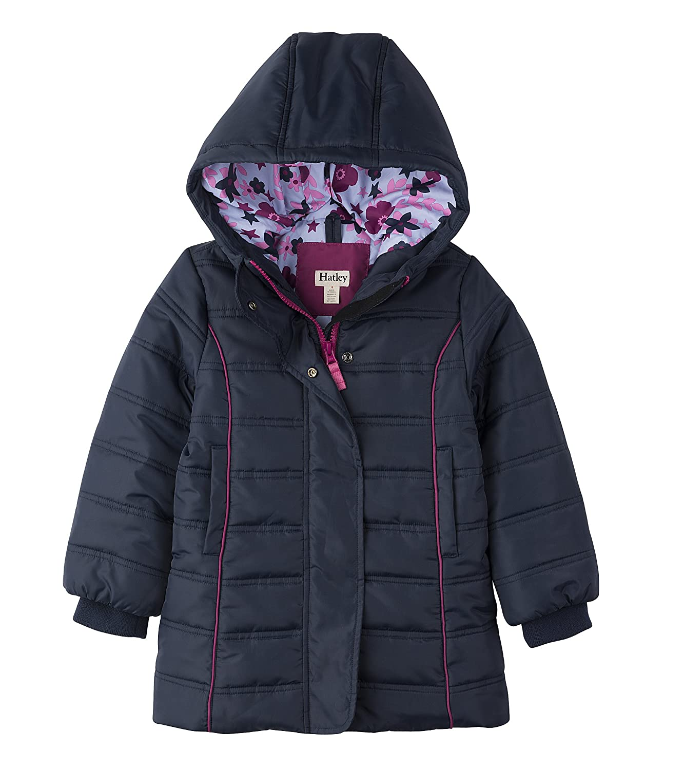 Hatley Girl's Fitted Puffer Coat Jacket SJ7NAVY318