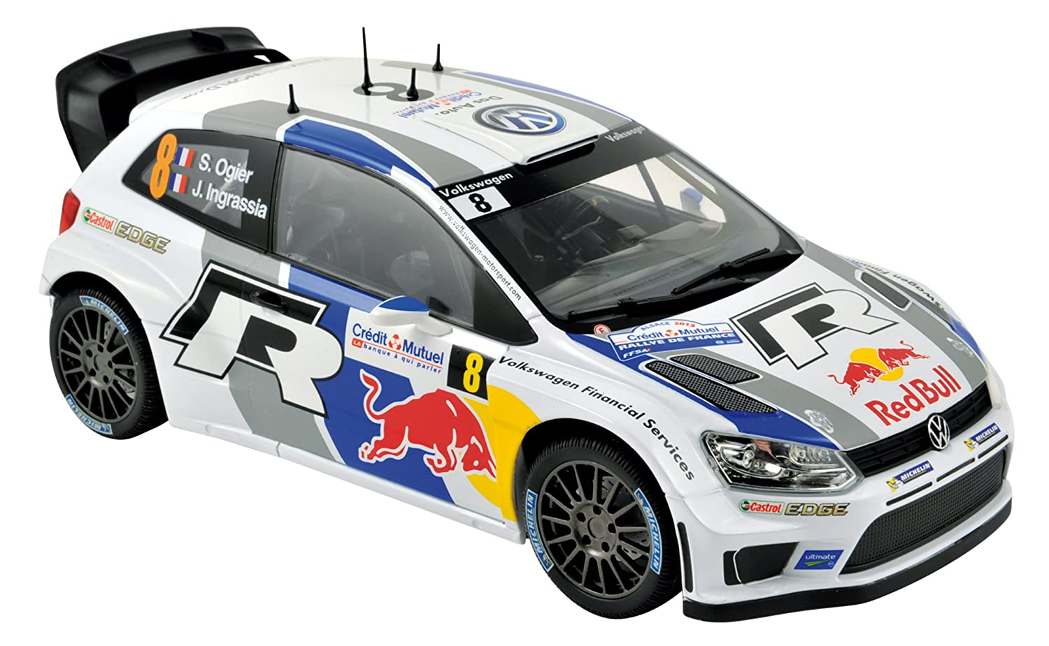 VW Polo R WRC #8 World Champion French rally 2013 1:43 norev