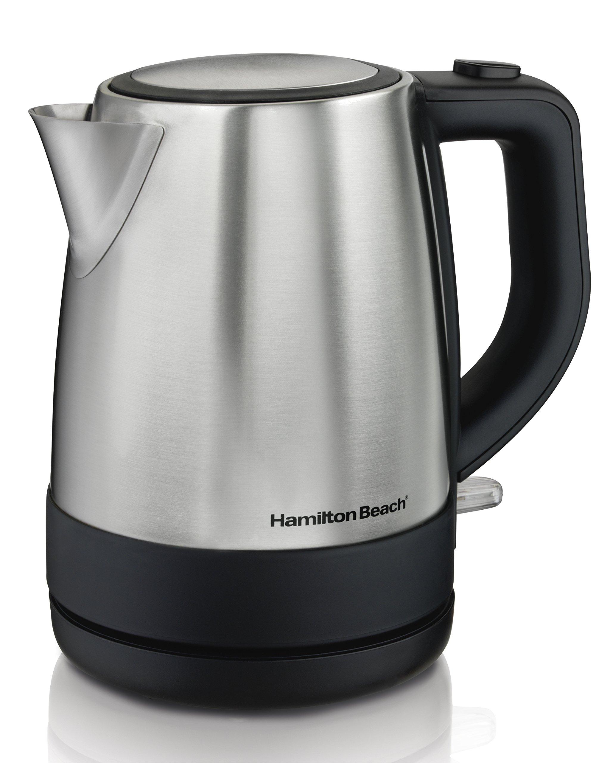 Hamilton Beach 1 Liter Electric Kettle For Tea And Hot Water, Cordless, Auto-Shutoff And Boil-Dry Protection, Stainless Steel (40998) by Hamilton Beach