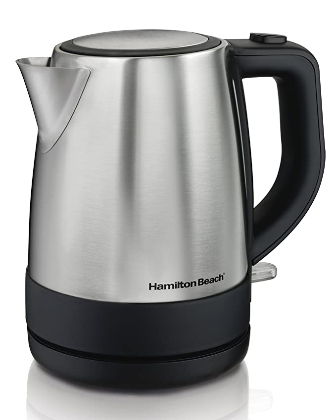 Hamilton Beach 1 Liter Electric Kettle for Tea and Water, Cordless, Auto-Shutoff and Boil-Dry Protection, Stainless Steel (40998) best electric tea kettle
