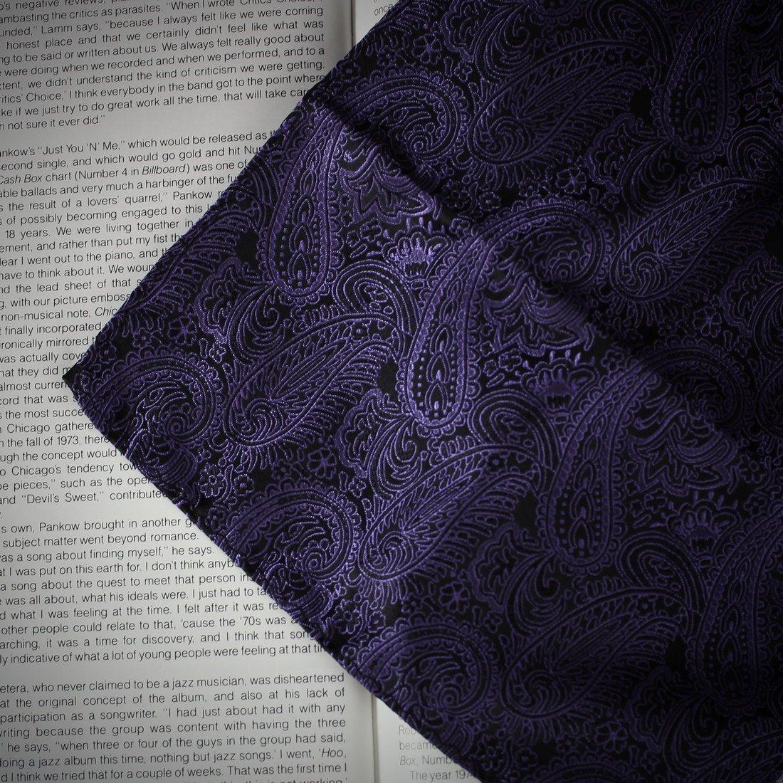 Epoint Mens Fashion Accessories Microfiber Pocket Square Pattern Cufflinks Set