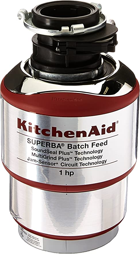 Kitchenaid Kbds100t 1 Hp Batch Feed Food Waste Disposer Silver Garbage Disposals Amazon Canada