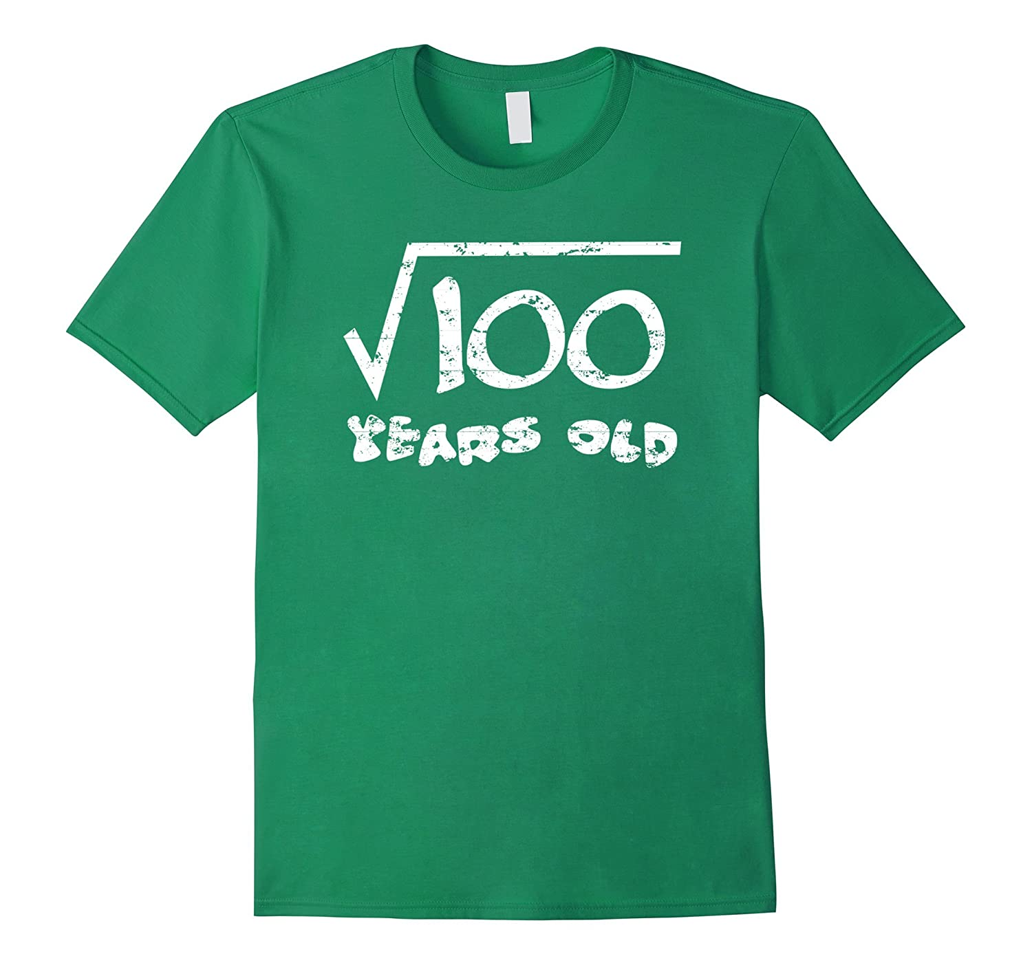 10th Birthday 10 Years Old Funny Square Root of 100 T-Shirt-Vaci