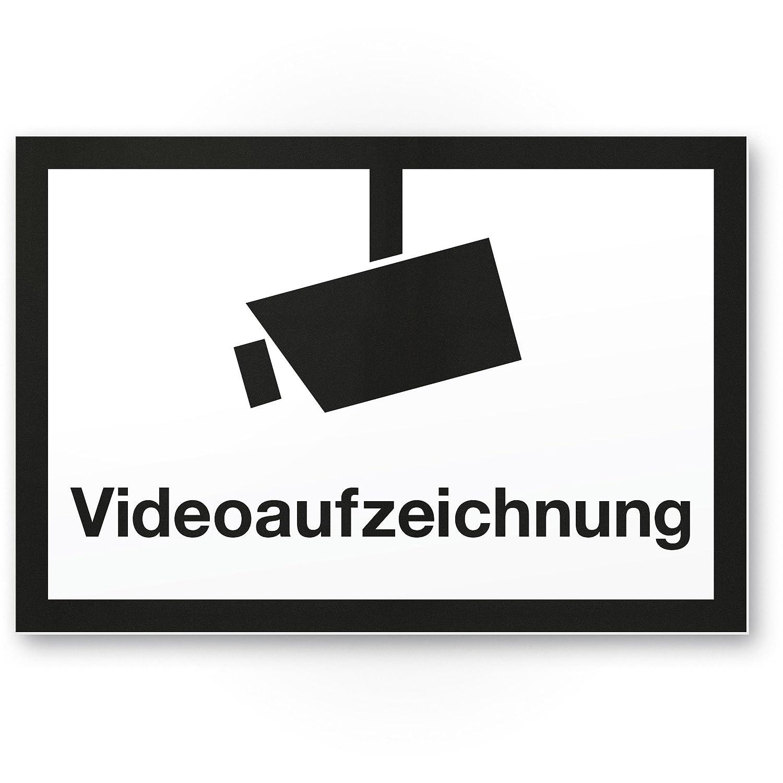 Cartel de grabación de vídeo (Blanco y Negro, 30 x 20 cm ...
