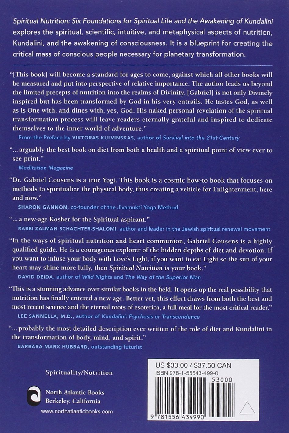 Spiritual nutrition six foundations for spiritual life and the spiritual nutrition six foundations for spiritual life and the awakening of kundalini amazon gabriel cousens 9781556434990 books biocorpaavc