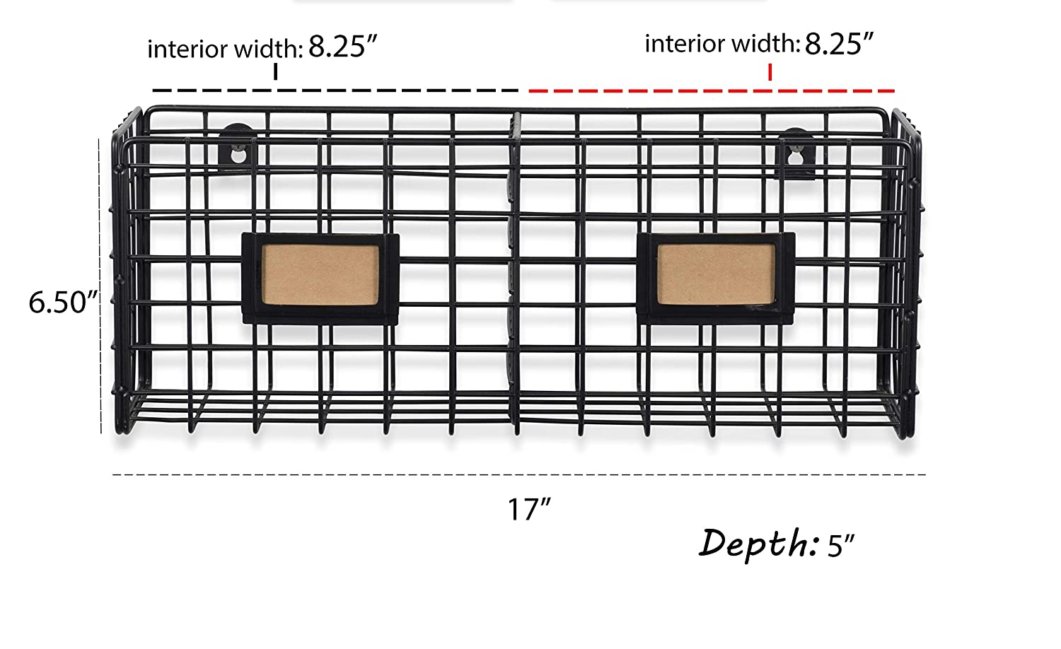 Shelf Desktop Organizer Rack WALL35 Metal Mesh Wire Basket Wall Mounted Space Saving Design for Home and Office Rustic Industrial Style
