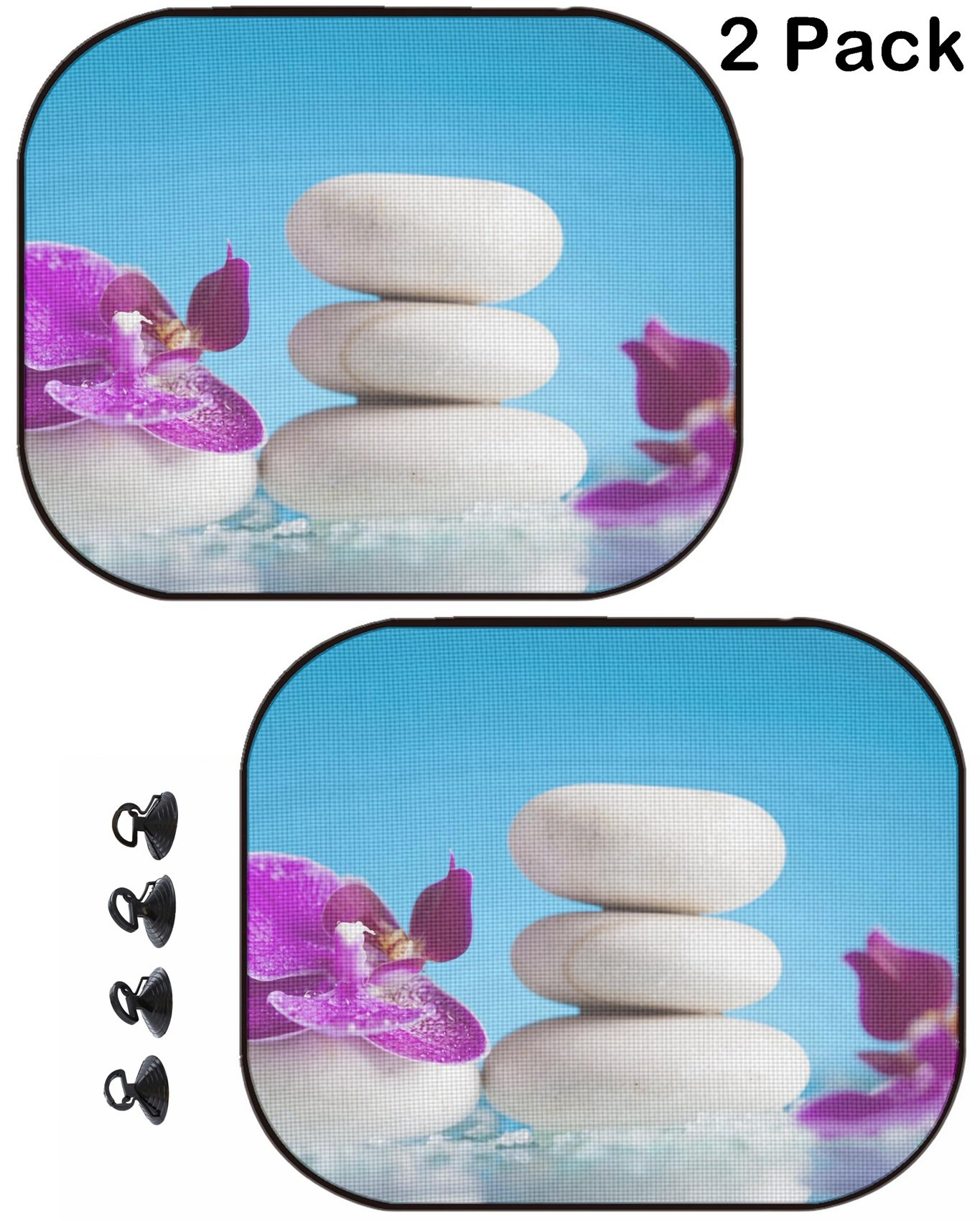 MSD Car Sun Shade Protector Block Damaging UV Rays Sunlight Heat for All Vehicles, 2 Pack Image ID 35620197 Spa Still Life with Pink Orchid and White Zen Stone in a Serenity Poo