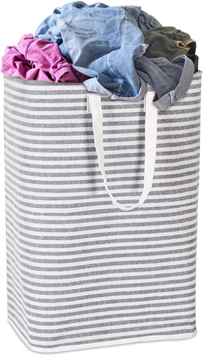 Wisuce Laundry Hamper, Freestanding Laundry Basket Large Collapsible Dirty Clothes Hamper with Handles for Laundry
