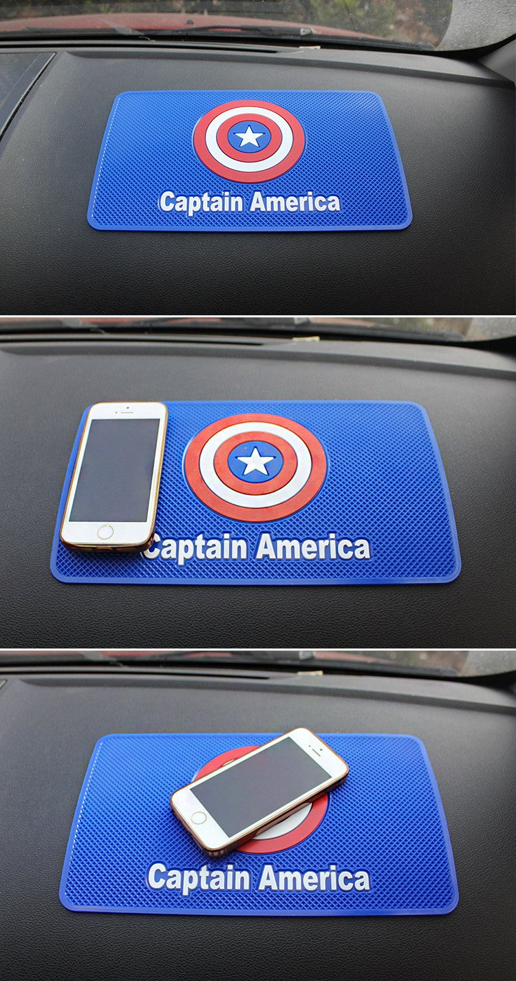 Coins and More Keys S.H.I.E.L.D. - 10.6in x 6.1in Sunglasses Car Dashboard Universal Non-Slip Mat use for Cell Phones Tianmei Car Anti-Slip Rubber Pad