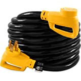 Camco 30' PowerGrip Heavy-Duty Outdoor 50-Amp Extension Cord for RV and Auto | Allows for Additional Length to Reach Distant