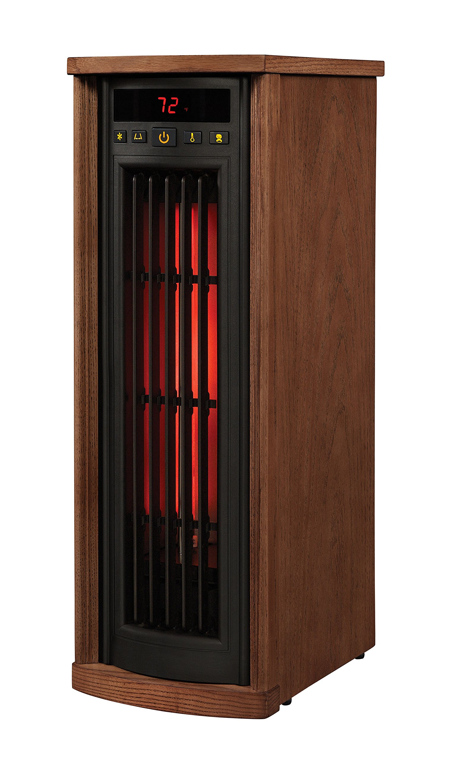 Duraflame 5HM8000-O142 Portable Electric Infrared Quartz Oscillating Tower Heater, Oak by Duraflame (Image #3)