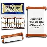 Egglo Eggs [Light of Jesus] Scripture Scrolls - Faith Filled Toys for Halloween | Fall Festivals (12 Pack)